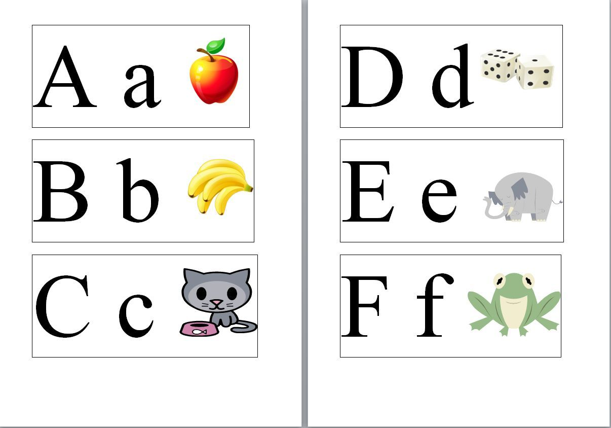 Upper And Lower Case Alphabet Cards Using Sassoon Primary