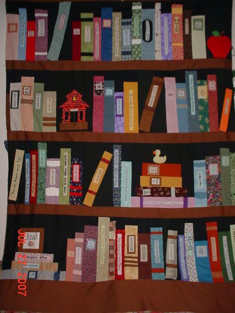 Another Bookshelf Quilt Idea