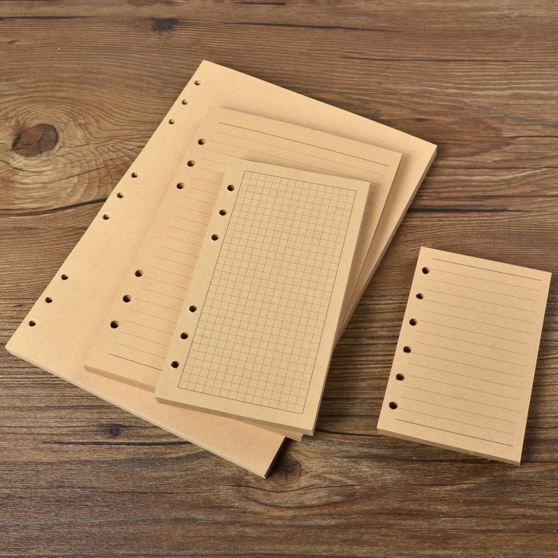 Kraft paper brown lined paper notebooks filler paper grid pages - lined paper with picture
