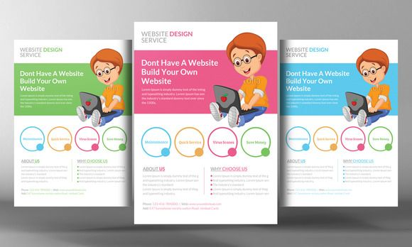 Website Design Flyer Template | Flyer template and Website designs
