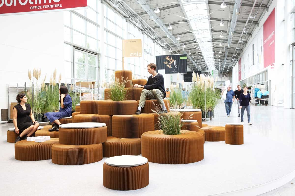 Molo Have Created A Variety Of Public Seating Areas That