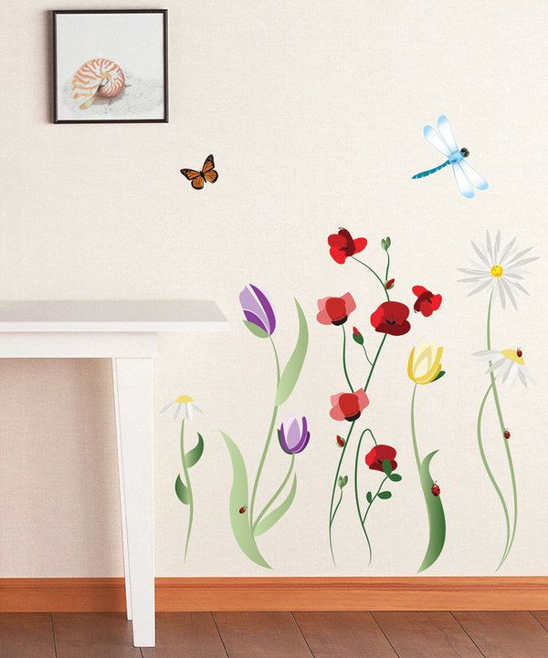 91c4b2f5b Love this Spring Flowers Wall Decal Set by Art Applique on  zulily!   zulilyfinds