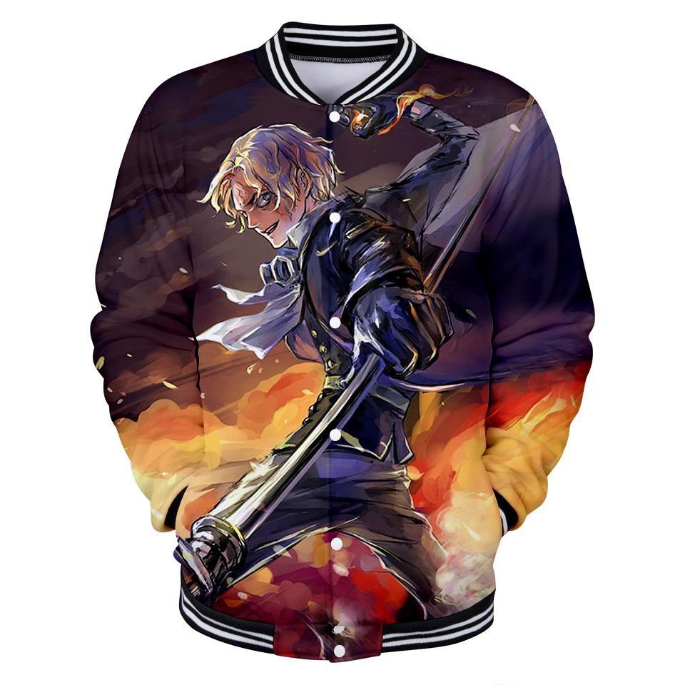 Jacket one piece sabo art gomugomuworld jackets otaku