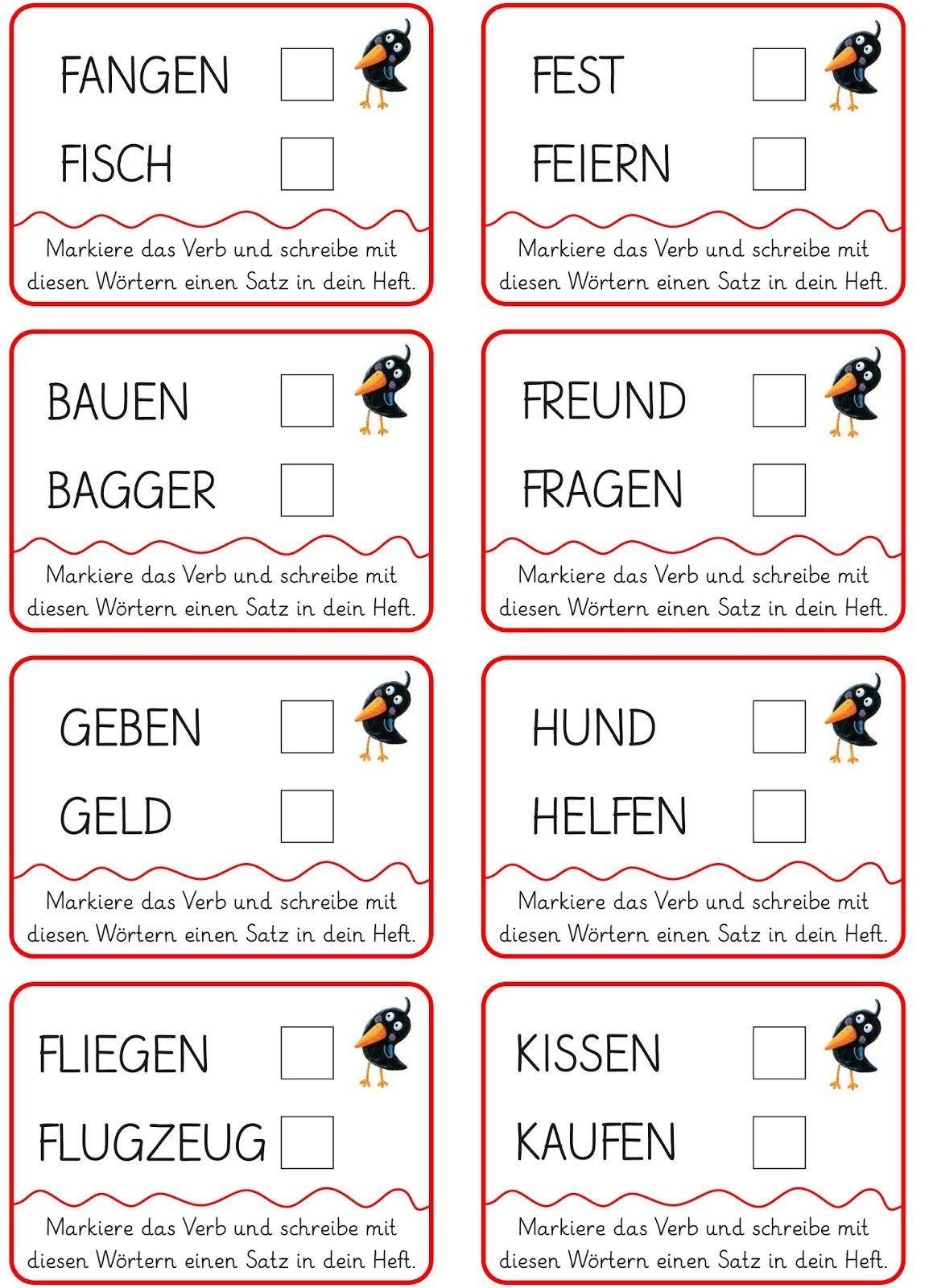 Lernstübchen: Verben erkennen   Education   Pinterest   Weitergehen ...
