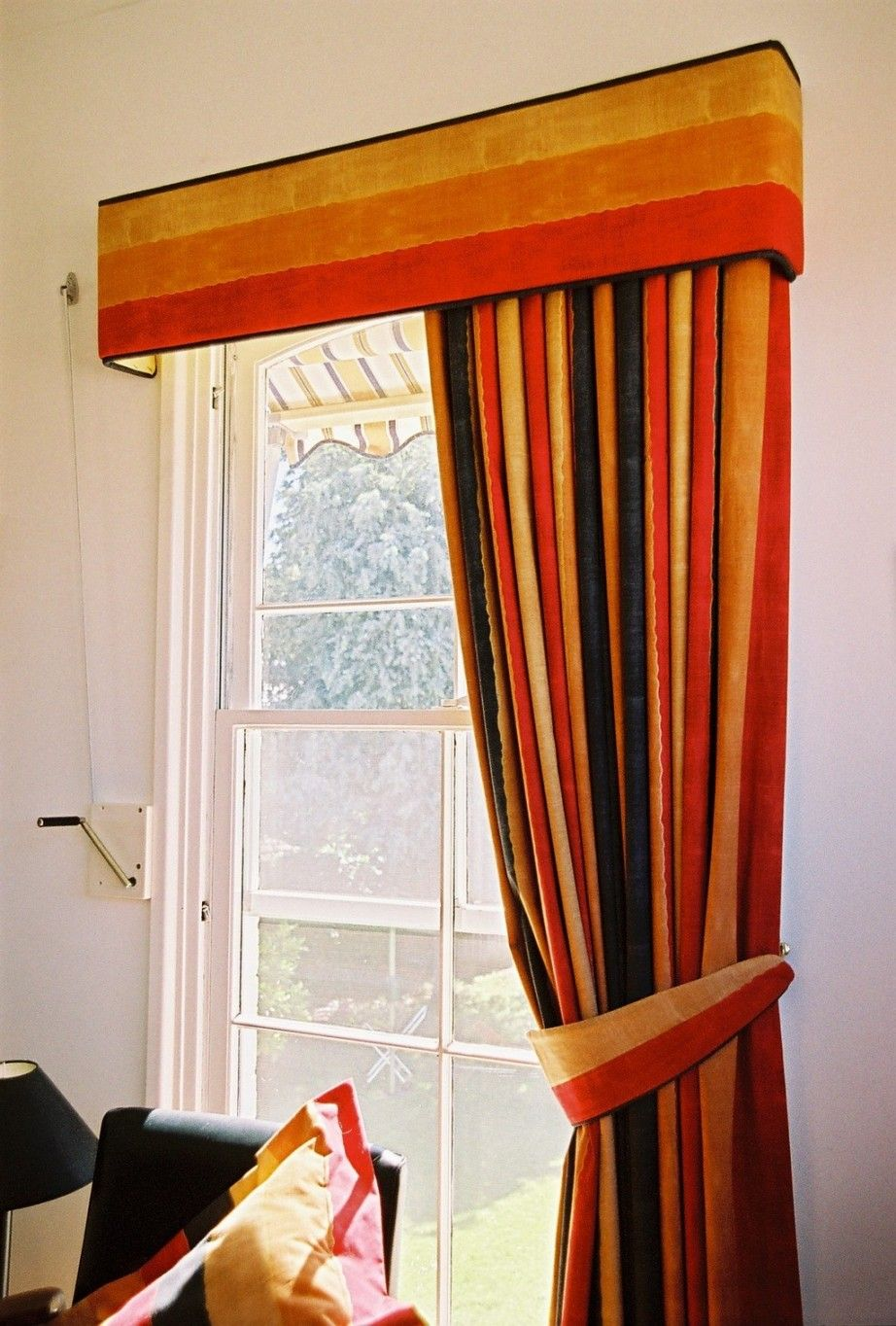 Red Orange Curtains Home Decoration Astonishing Cotton