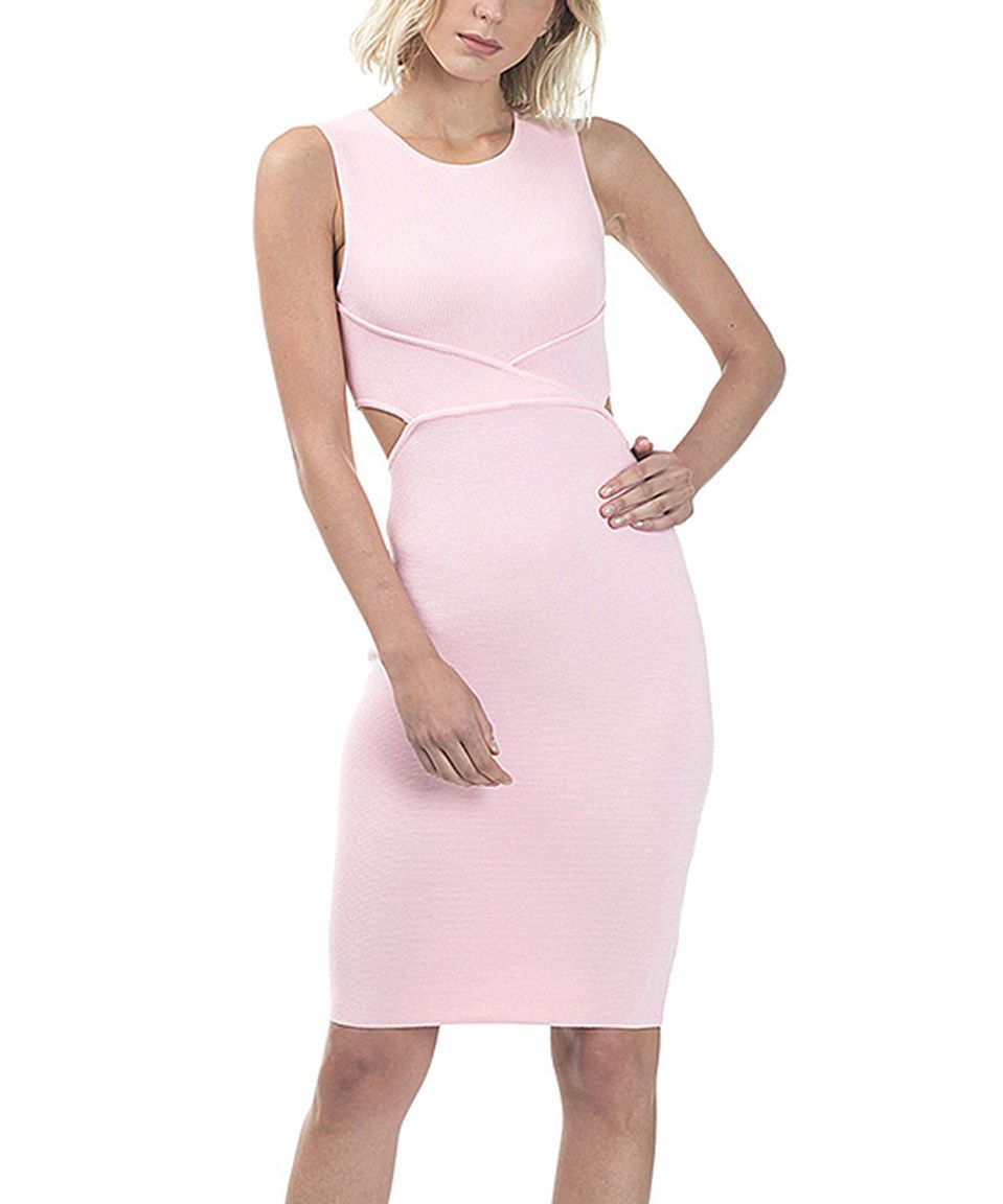 Take a look at this CQbyCQ Soft Pink Open-Back Bodycon Dress today!