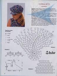 esquema para hacer un sombrero de verano a crochet - Buscar con Google