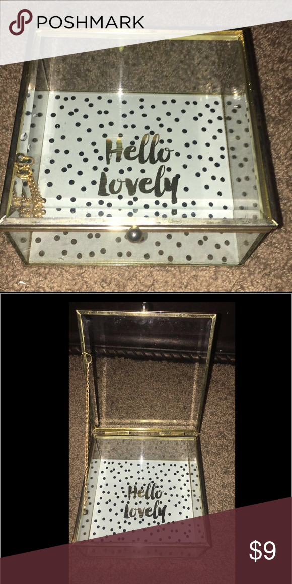 Glass holder I originally got this for jewelry but ended up finding something else never used great condition Other