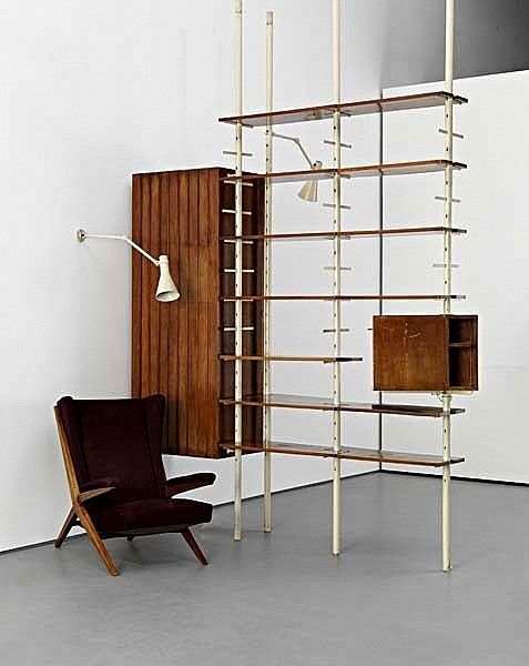 Completely new wall to ceiling bookcases suspension pole - Google Search | 支  WB63