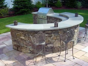 Outdoor Kitchen With Bar Curved Outdoor Kitchen Countertops Outdoor Kitchen Design Outdoor Kitchen