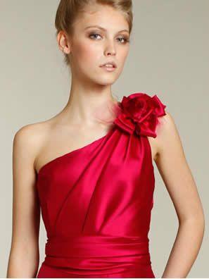 One Shoulder Neckline Dress