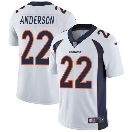 jim kelly jersey nike broncos 22 c.j. anderson white mens stitched nfl vapor untouchable limited jer