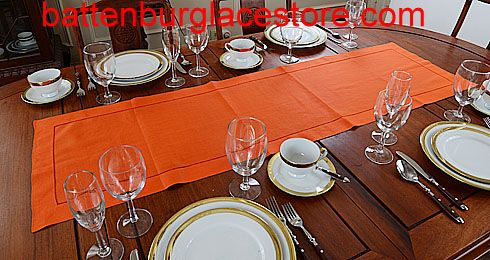 Table Runner Solid Color Flame Orange 16x54