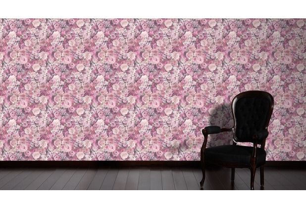 Blumen über Blumen, in verschiedenen Lila- und Pinktönen Eine - schöne tapeten fürs wohnzimmer