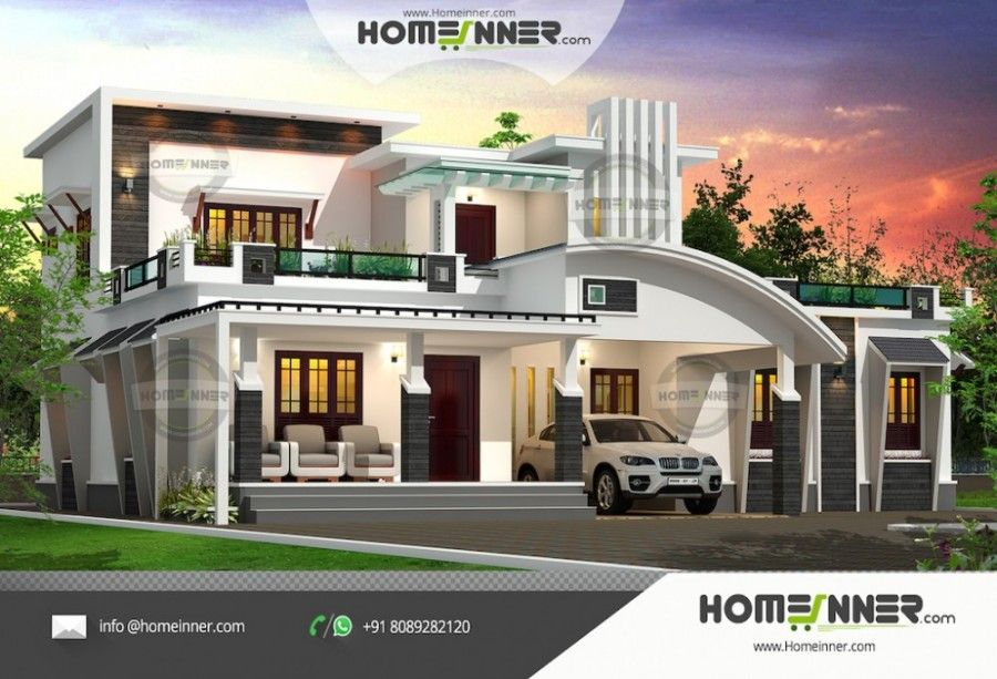For Free House Plans Visit Our Website Https Www Homeinner Com Architectural House Plans Kerala House Design Cool House Designs
