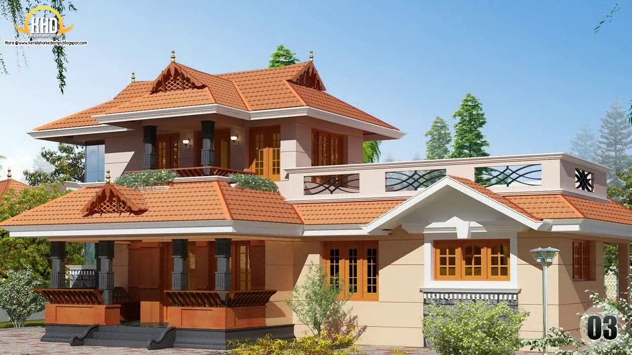 House Design Collection February 2013 Youtube In 2020 Kerala House Design Bedroom House Plans Kerala Traditional House