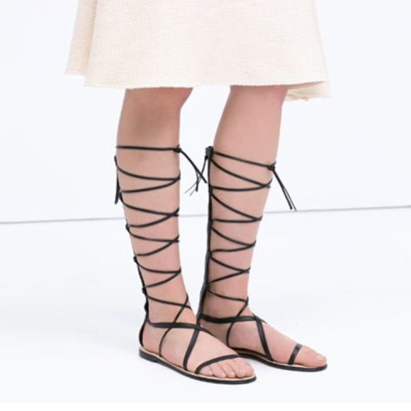 00ccb6787663 ZARA Leather Gladiator Sandals NWT EU 41   US 10 price is firm. Zara Shoes  Sandals