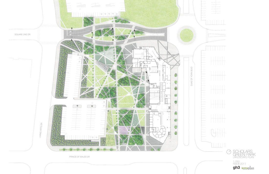 Gh3 Scholars Green Park Drawing 05 Plan Landscape Architecture