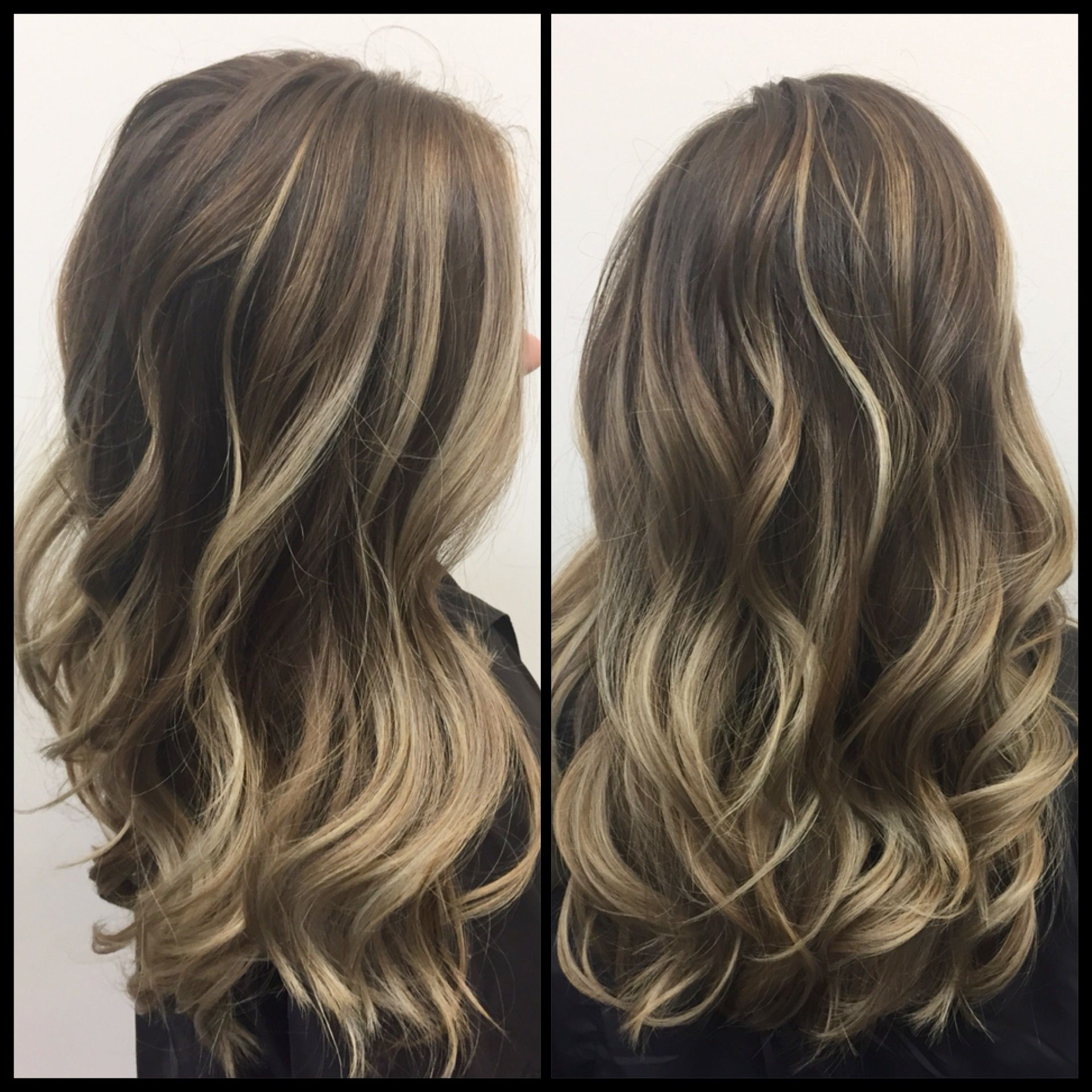 Cool Beige Blonde Balayage On Ash Brown Hair Balayage Hair Dark