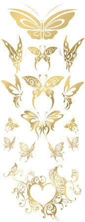 Photo of Exquisite Golden Butterflies Tattoos – Homemade Tattoo 2020