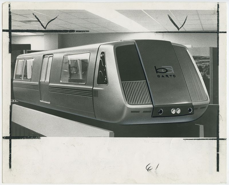 BART train car mockup (December 10, 1964) (With images) | Bay area ...