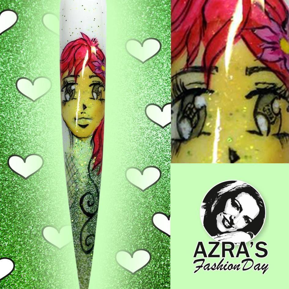 """Azra\'s Fashion Day: Manga-Nagelkunst! Nailart """"Manga Girl"""" #manga ..."""