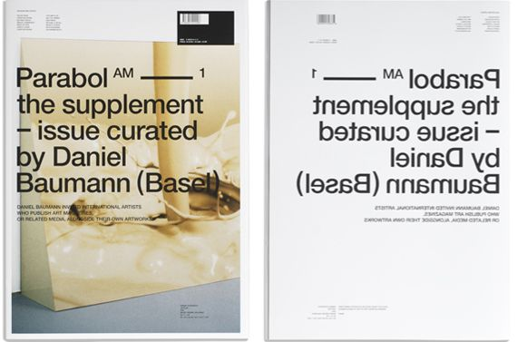 Parabol Magazine  Designed by Section A.