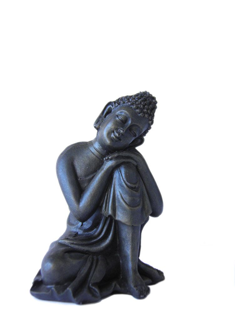 Konagamana sleeping Buddha head on the knee left garden ornament