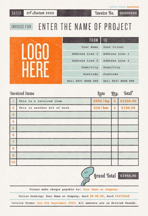 cute invoice Design \/\/ Print Pinterest Typography - print invoice
