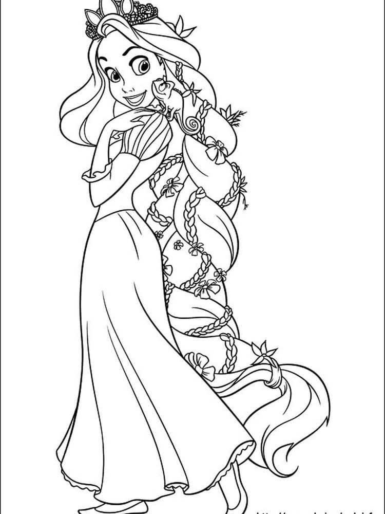 Rapunzel Coloring Pages Pdf In 2020 Tangled Coloring Pages