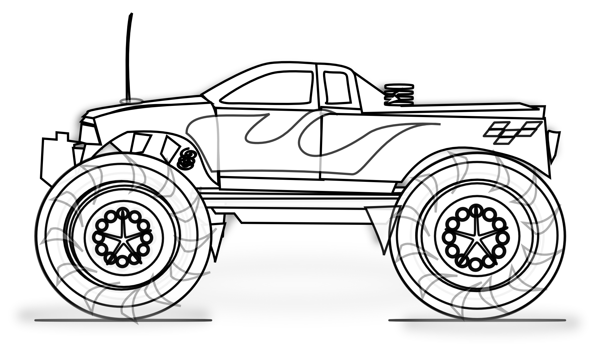 Free Printable Monster Truck Coloring Pages For Kids | Schultuete ...