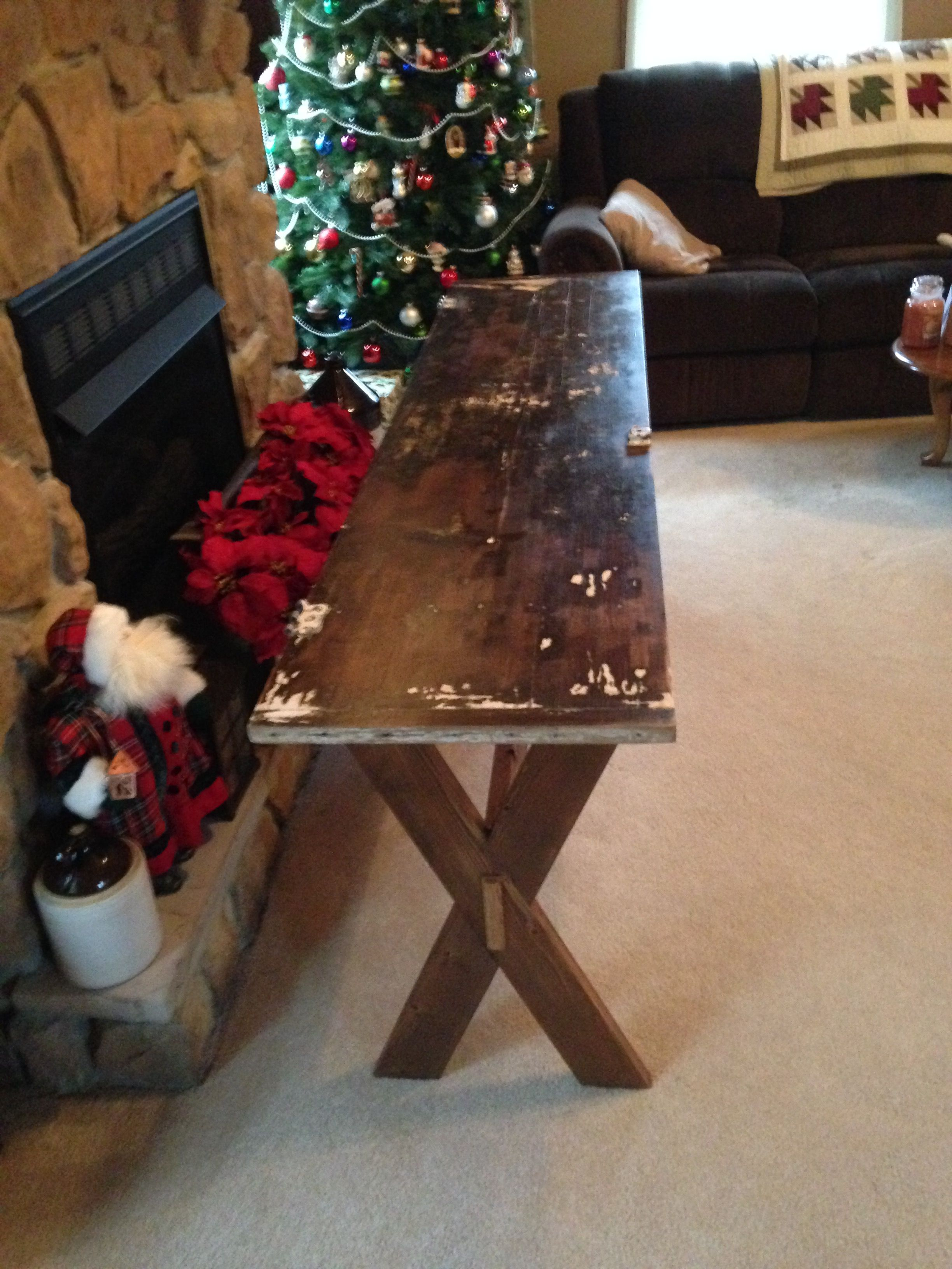 This Sofa Table Hallway Table Was Made From An Old Vintage Door I Left The Hardware On To Give It Some Character Vintage Door Hallway Table Sofa Table