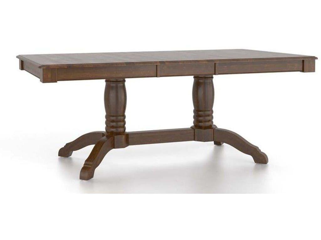 Canadel Dining Room Rectangular Table With Pedestal TRE3860VQ 1   Ennis  Fine Furniture   Boise