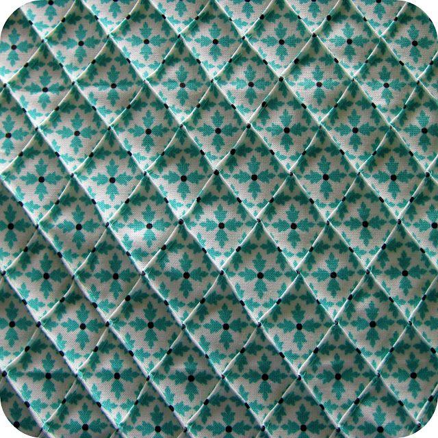 diamond pintucks <3 (see mission accomplished) | Fabric ...