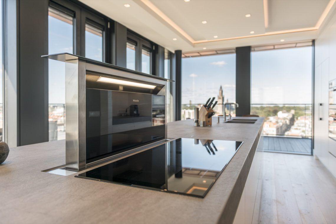 Private van essen interieurbouw penthouse in den haag hoog