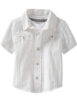 Old Navy... Embroidered Pocket Shirt for Toddlers