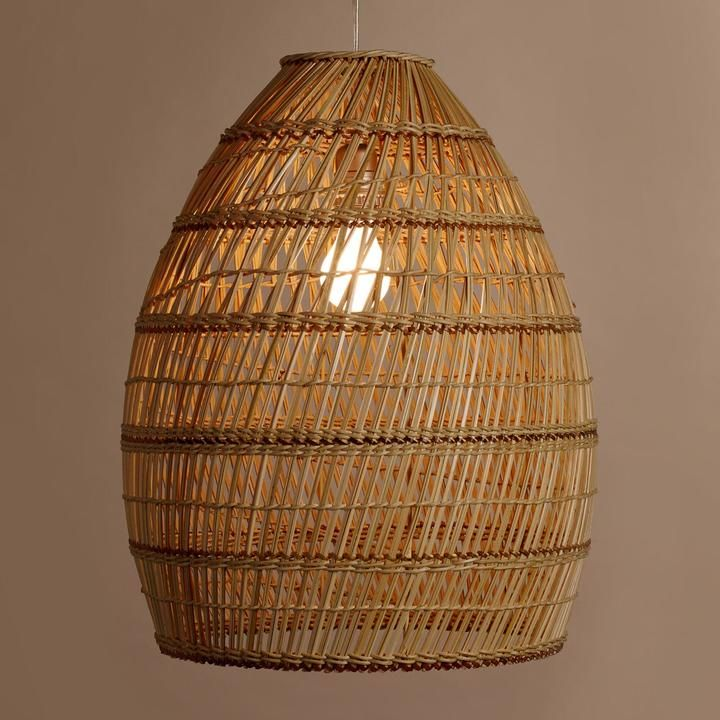 Basket Weave Bamboo Pendant Lamp Light Me Up Bamboo