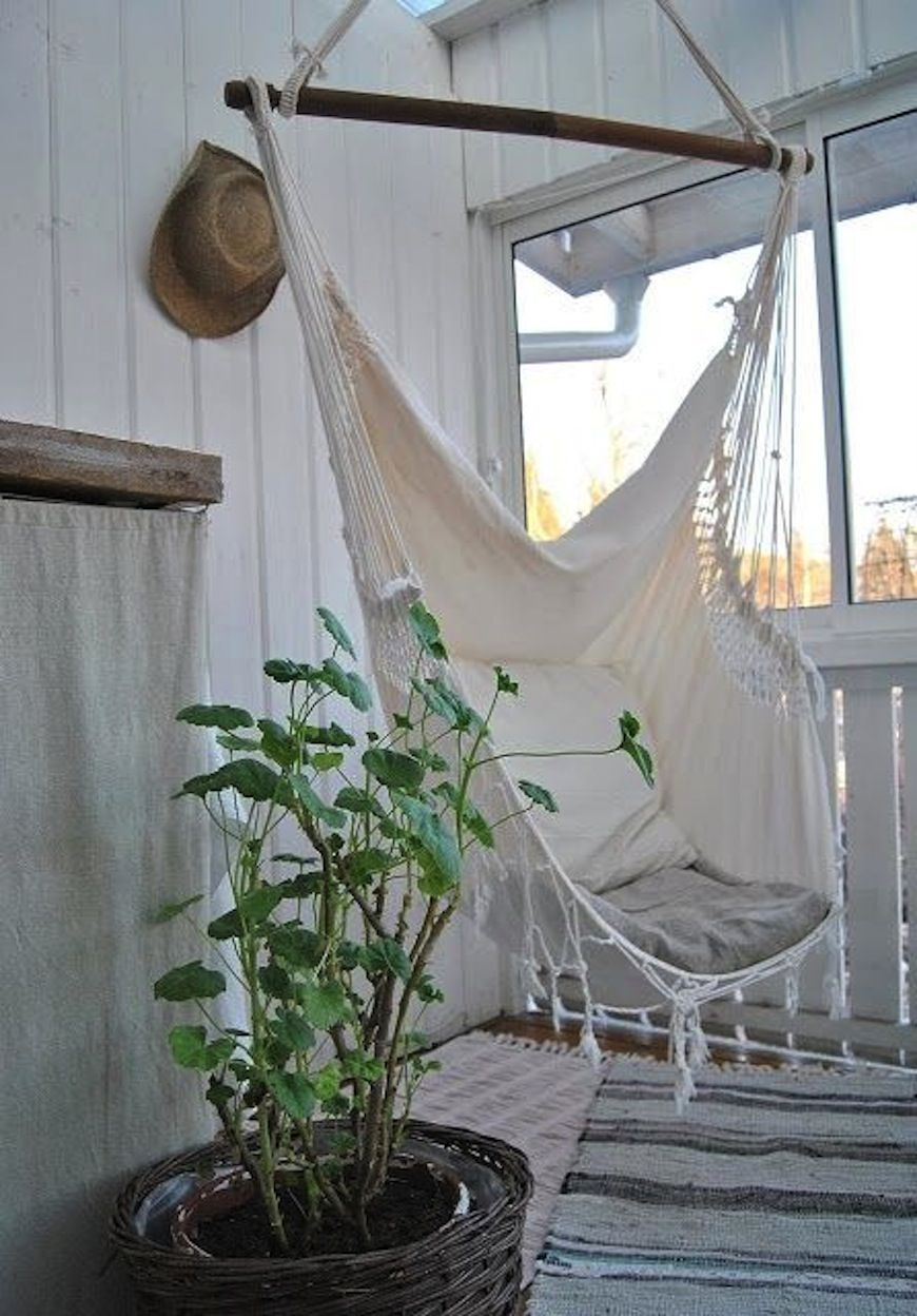 in porch swinging hammock relaxing swing bench wooden photo the stock garden