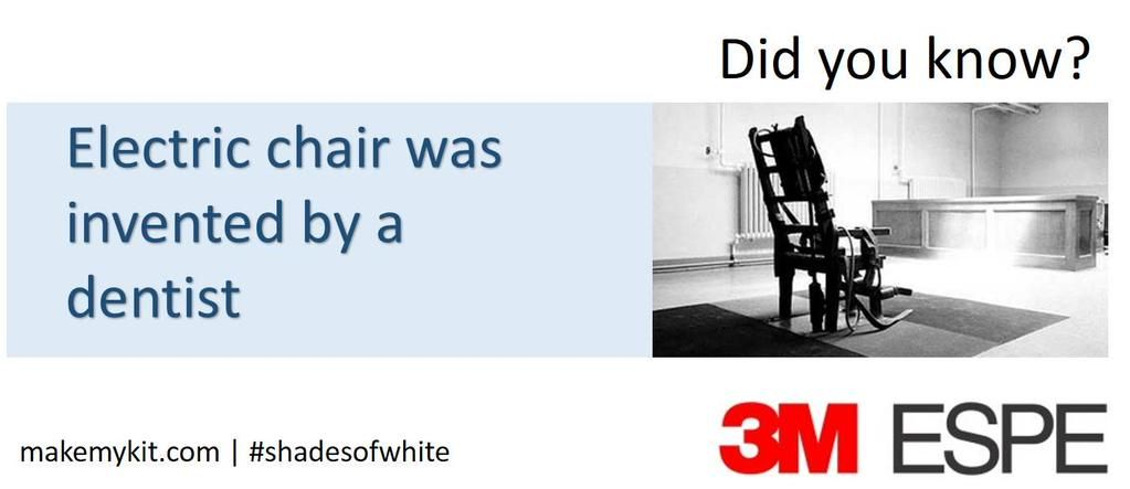 Electric Chair Was Invented By Purple Chaise Lounge Chairs Shades Of White On Dental History Who The Dr Alfred P Southwick A Dentist Is Credited With Inventing