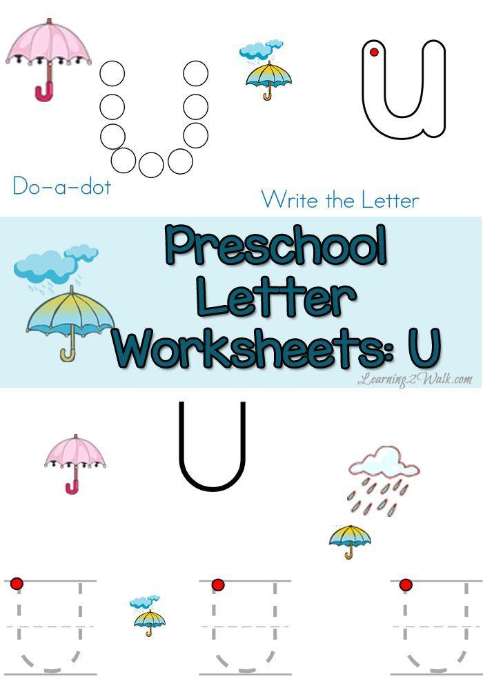 Free Letter U Preschool Worksheets- Learning 2 Walk | Homeschool ...