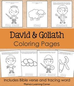 David And Goliath Bible Coloring Pages Preschool Bible Lessons