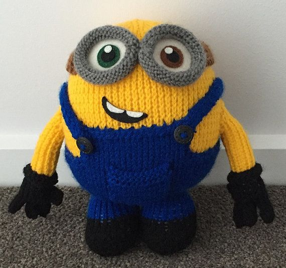 Bob The Minion Knitting Pattern Pdf Minion Pinterest Knitting