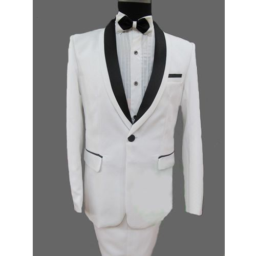 Custom White Slim Fit Fashion Dress Suits Tuxedos Tux Men Wedding ...