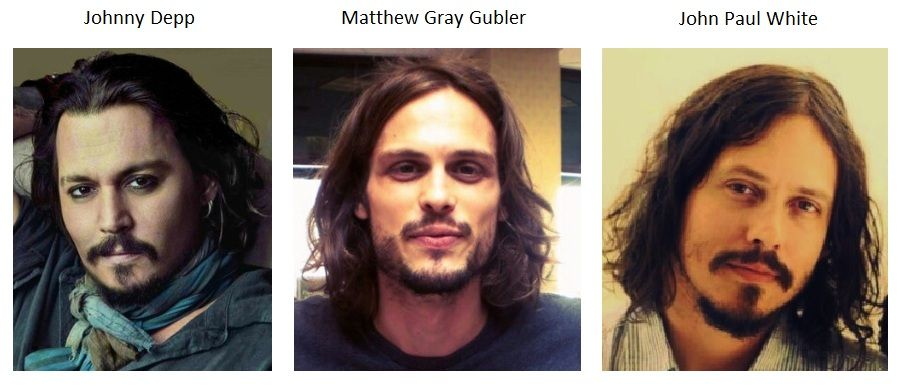 Johnny Depp Matthew Gray Gubler And John Paul White From The