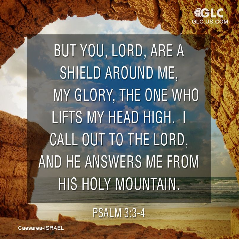 Psalm 3:3-4 But you, Lord, are a shield around me, my glory