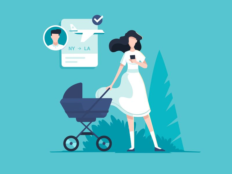 Young mother | Characters in 2019 | Flat design illustration
