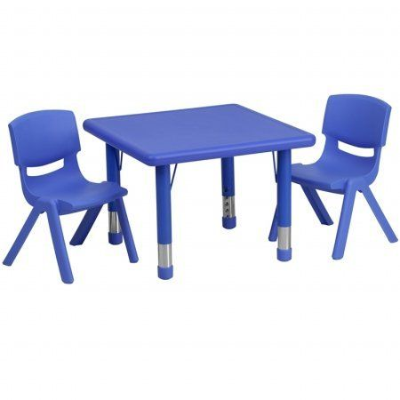 Flash Furniture 24'' Square Adjustable Blue Plastic Activity Table Set with 2 School Stack Chairs Flash Furniture http://www.amazon.com/dp/B008OTO17W/ref=cm_sw_r_pi_dp_NIo2tb00RGDVGCCK
