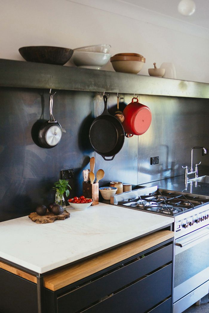 Auckland Kitchen by Studio106 | Marble table with rolling butcher ...