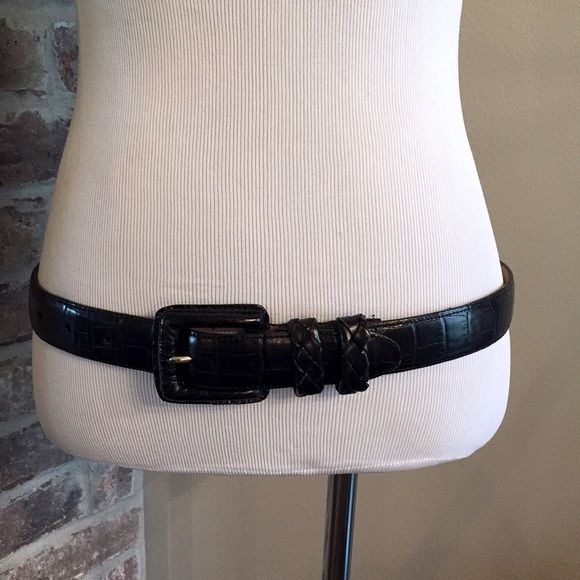 Brighton leather belt Black leather belt with very minor wear on inside of buckle. Size ML 32 Brighton Accessories Belts