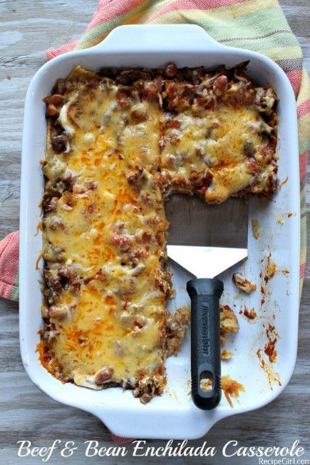 BEEF AND BEAN ENCHILADA CASSEROLE images